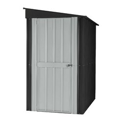Garden Sheds 7 X 9 globel 3 ft. 9 in. w x 5 ft. 7 in. d metal lean-to tool shed