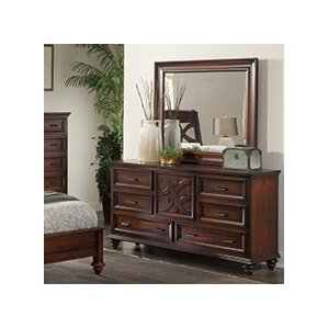 Cayman 6 Drawer Dresser with Mirror by..
