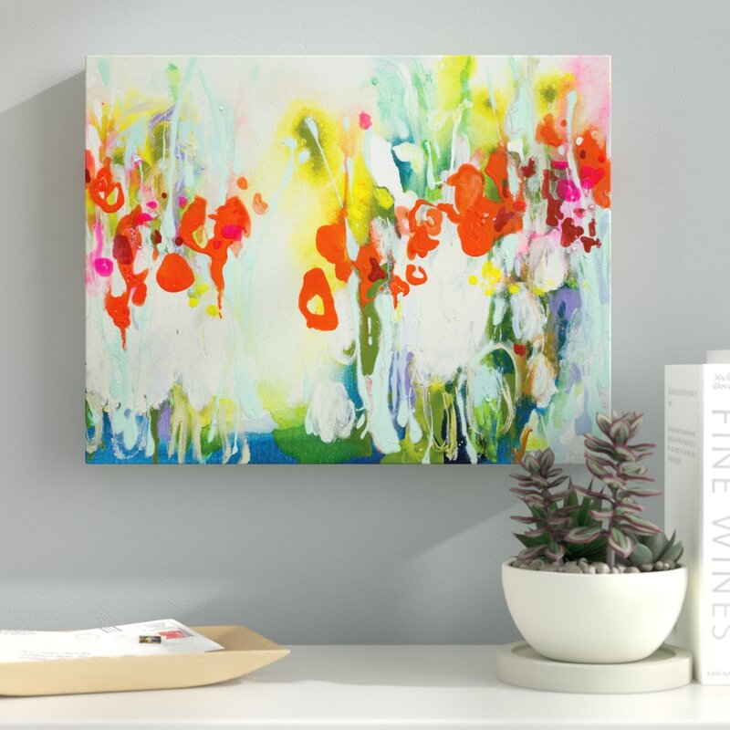 latitude run my garden painting print on wrapped canvas reviews