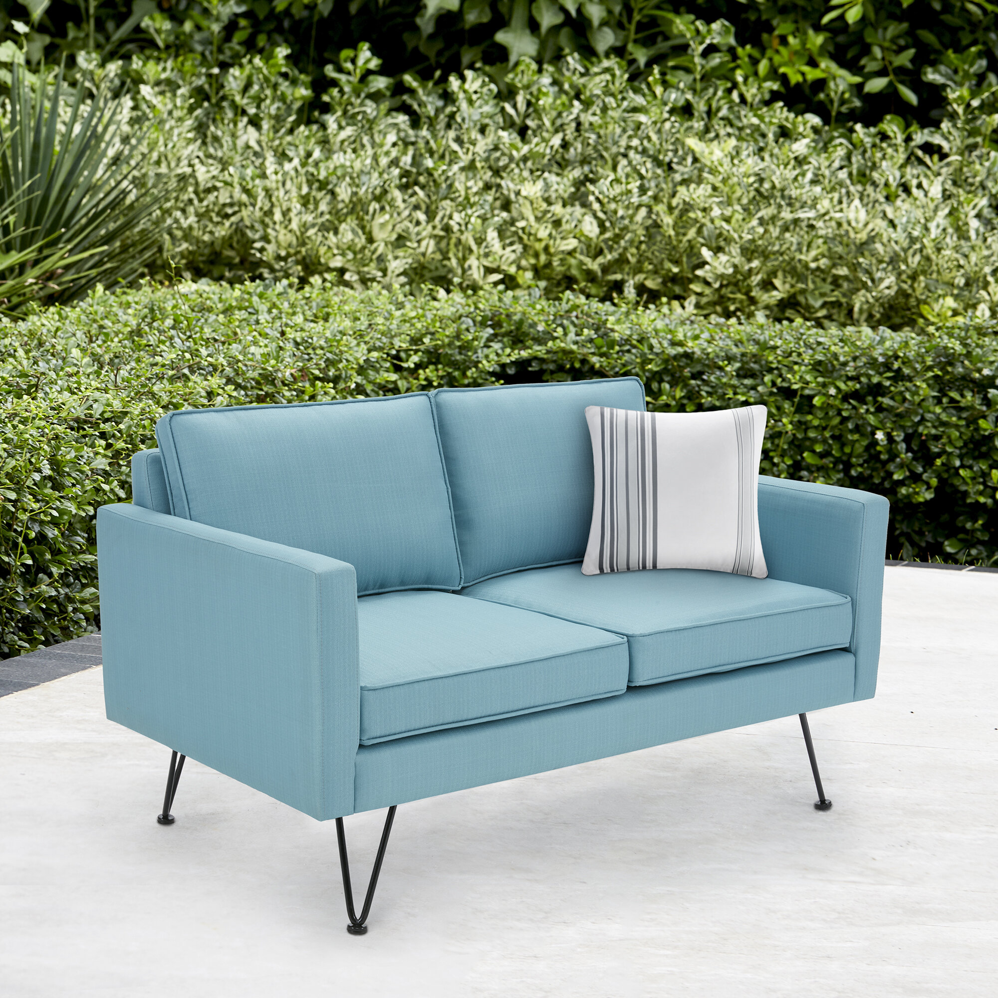 free today shipping garden and steel glider outdoor lizkona weather poundex loveseat overstock home product all fabric