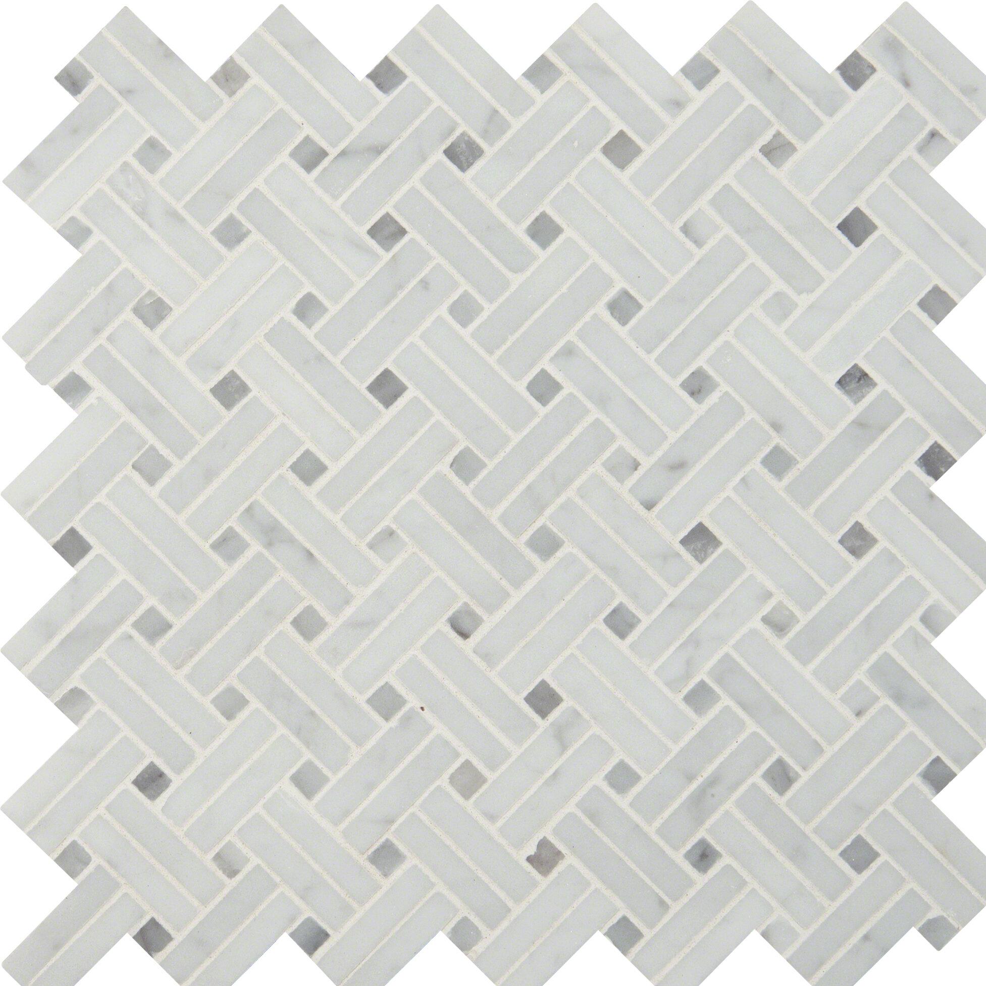 Carrara Marble Mosaic Tile   Wayfair