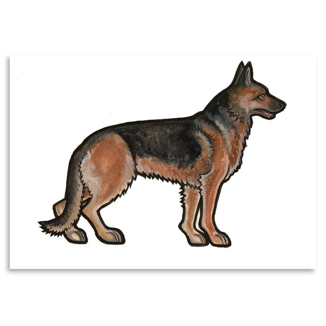 east urban home german shepherd painting print wayfair With best brand of paint for kitchen cabinets with german shepherd stickers