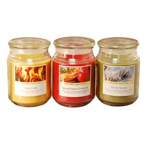 3 Piece Holiday Collection Scented Jar Candle Set