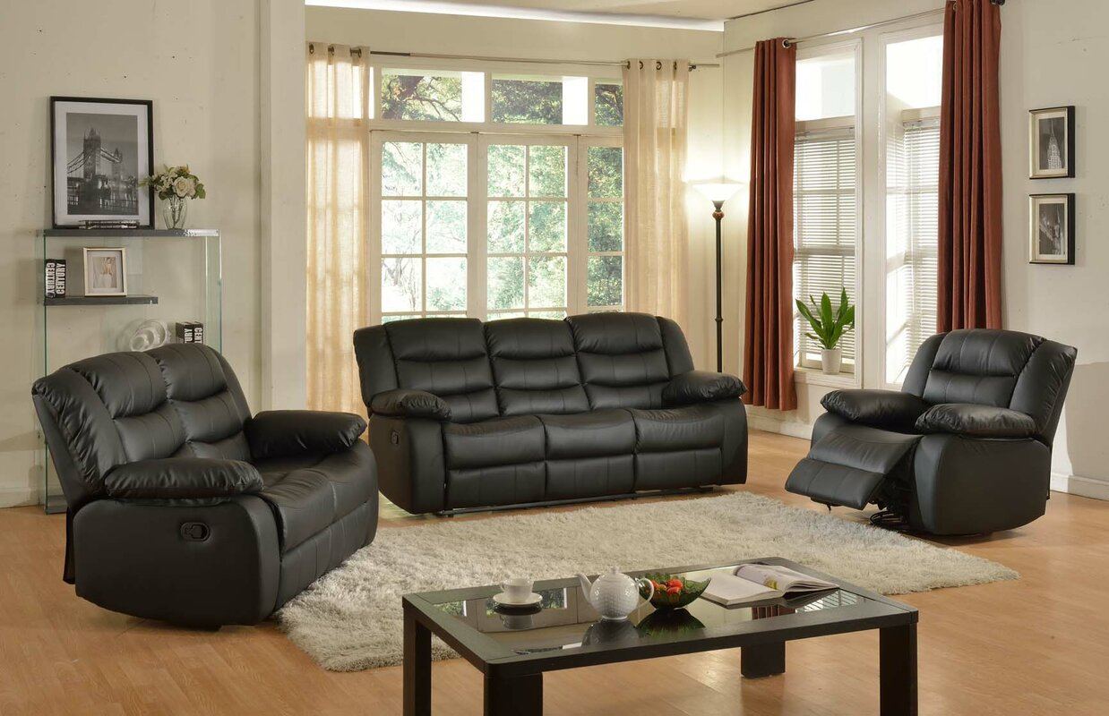 Living In Style Casta 3 Piece Living Room Set & Reviews | Wayfair