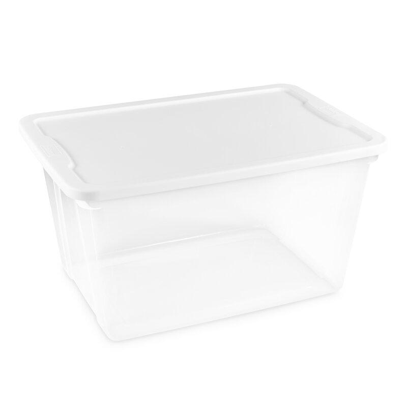 56 Quart Clear Plastic Storage Totes