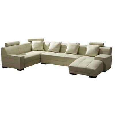 Orren Ellis Beideman Sectional Upholstery: Ivory, Orientation: Right Hand Facing