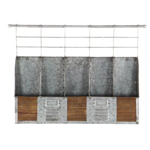 Metal/Wood 5 Bottle Wall Mounted Wine Bottle Rack by Cole & Grey