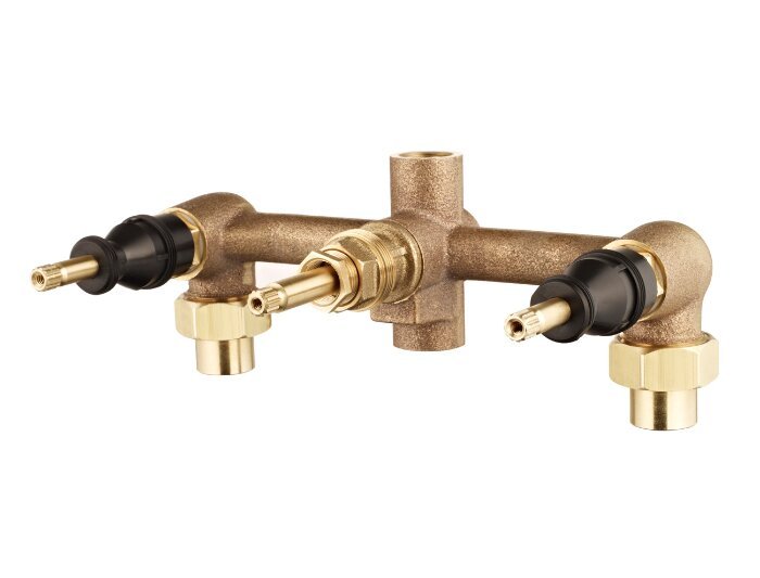 Rough Valves 3 Handle Tub And Shower Valve Body