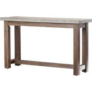 Modern slatestone console sofa tables allmodern eolus console table watchthetrailerfo
