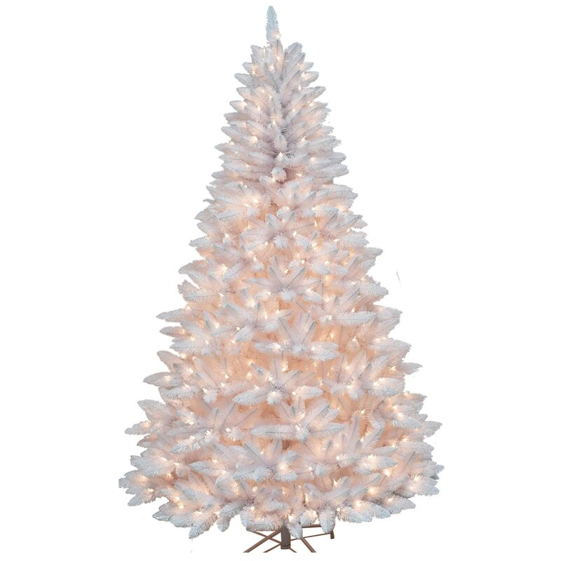 pvc 75 white fir artificial christmas tree with 750 white ul lights
