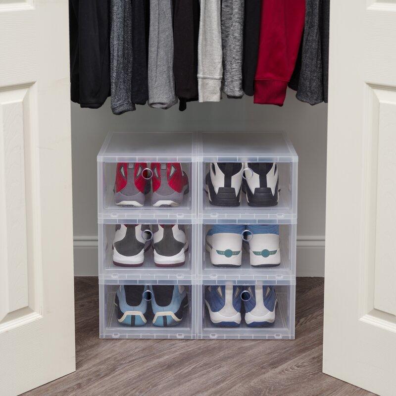 Wide Stackable Shoe Storage Box