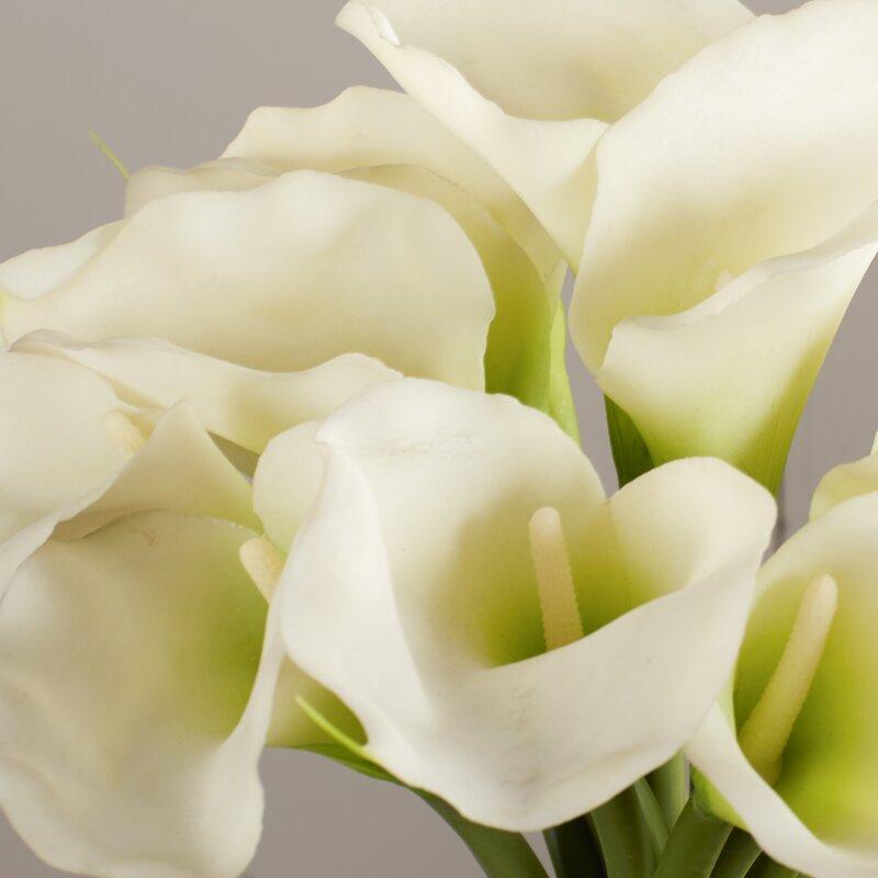 Calla Lily In Cylinder Silk Flower Arrangement