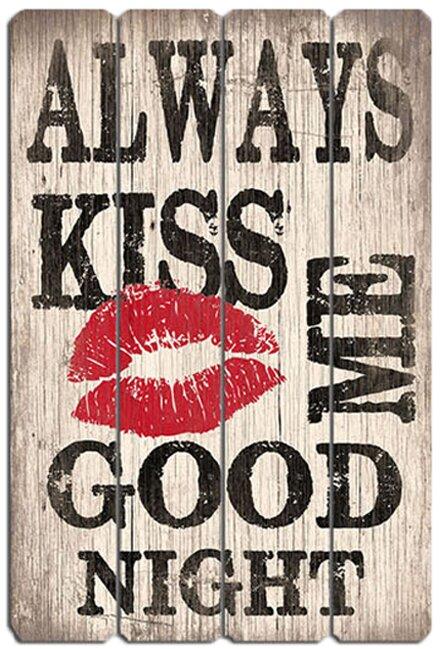 BayAccents Always Kiss Me Goodnight Wall Décor & Reviews | Wayfair