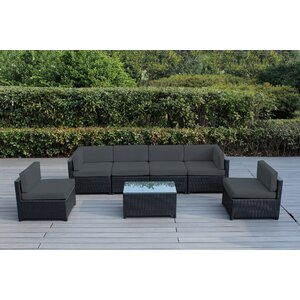 Mezzo 7 Piece Deep Seating Group with Cushion