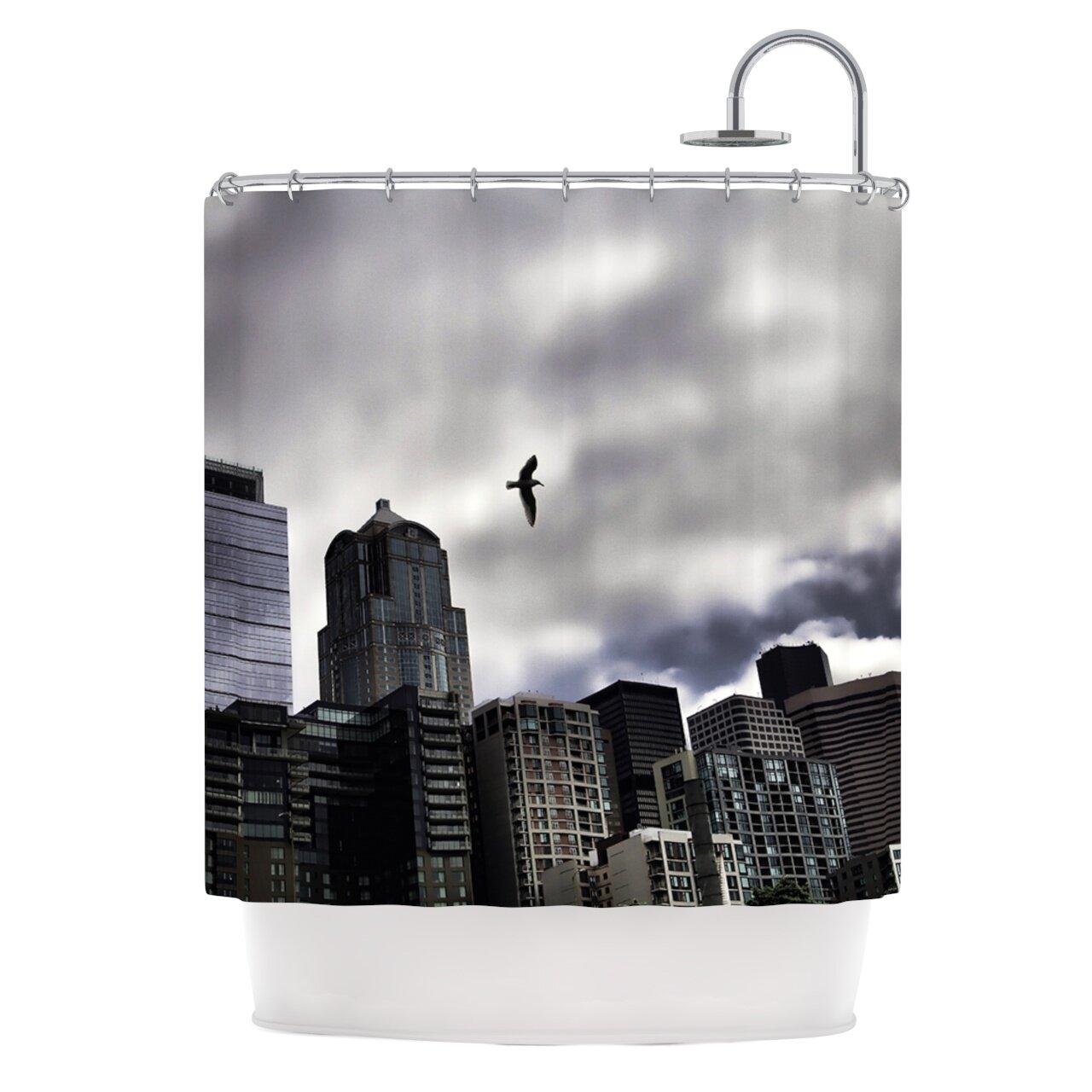 East Urban Home Seattle Skyline Shower Curtain