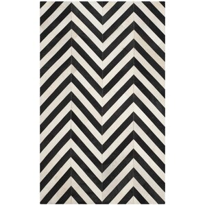 Drage Hand Woven White / Black Area Rug