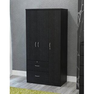 Beau Feinstein Black 3 Door Armoire