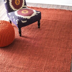 chunky handwoven terra area rug - Nuloom Rugs