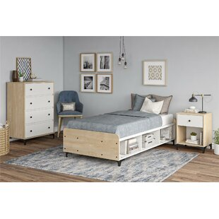 Ensemble De Chambre Configurable Avec Lit Plateforme Simple Holly Hills
