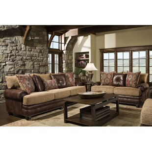 Rustic Leather Living Room Sets You\'ll Love in 2019 | Wayfair