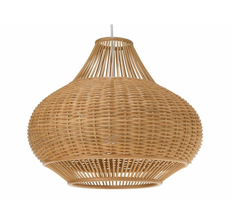 Kouboo Wicker Pear 1-Light Globe Pendant