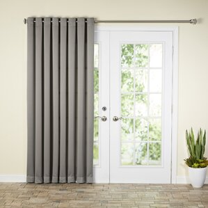 Wayfair Basics Solid Room Darkening Grommet Extra Wide Patio Door Curtain Panel & French Door Curtains | Wayfair Pezcame.Com