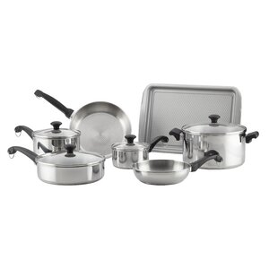 Classic Traditions 12 Piece Stainless Steel Cookware Set