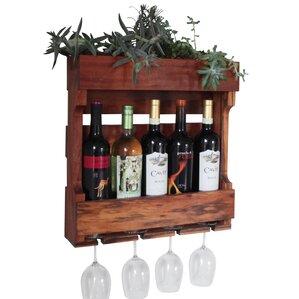 5 Bottle Wall Mounted Wine Rack by Gronomics