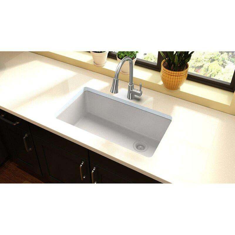 "Kitchen Sink 19 X 33: Elkay Quartz Classic 33"" L X 19"" W Undermount Kitchen Sink"