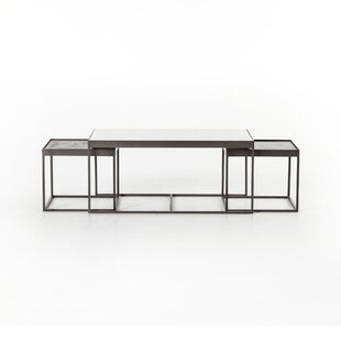 modern contemporary 3 piece coffee table set allmodern