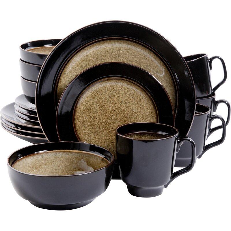 Stoneware 16 Piece Dinnerware Set Service for 4  sc 1 st  Wayfair & Mint Pantry Stoneware 16 Piece Dinnerware Set Service for 4 ...