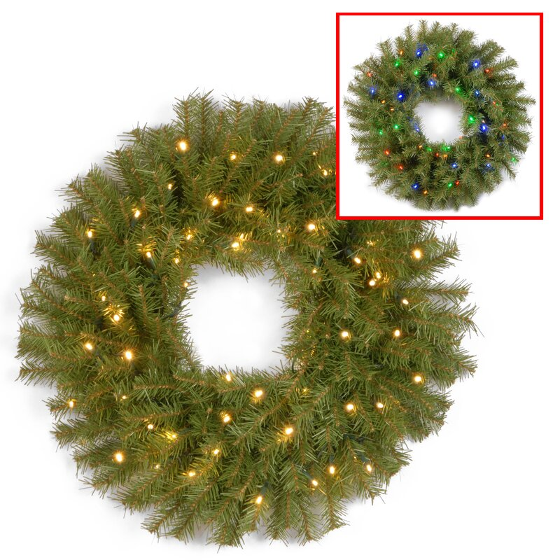 The holiday aisle 30 outdoor lighted fir wreath reviews wayfair 30 outdoor lighted fir wreath aloadofball Images