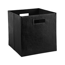 decorative storage leather bin
