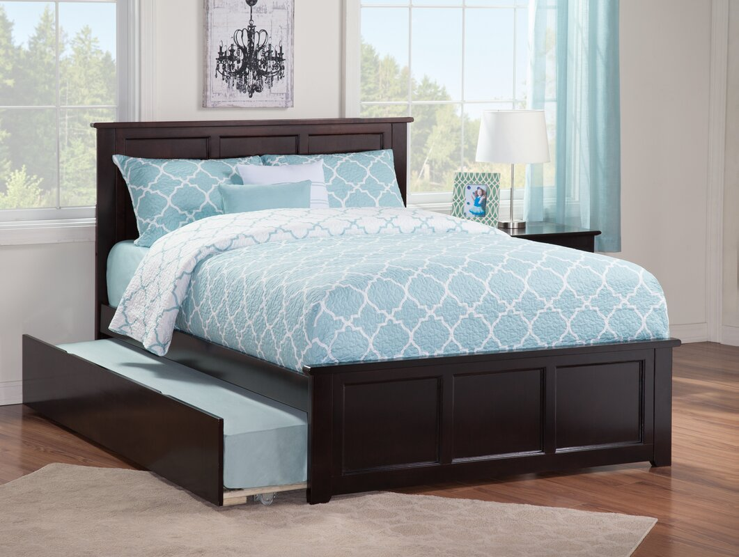 harriet bee alanna full platform bed with trundle & reviews | wayfair
