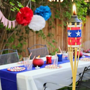 Fresh Tiki torches Around Pool