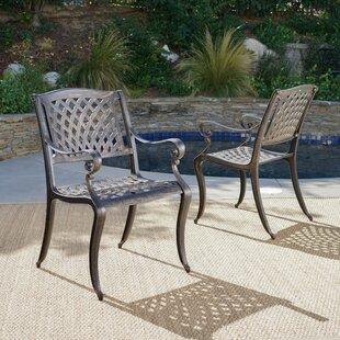 Randalstown Cast Aluminum Outdoor Chair (Set Of 2)