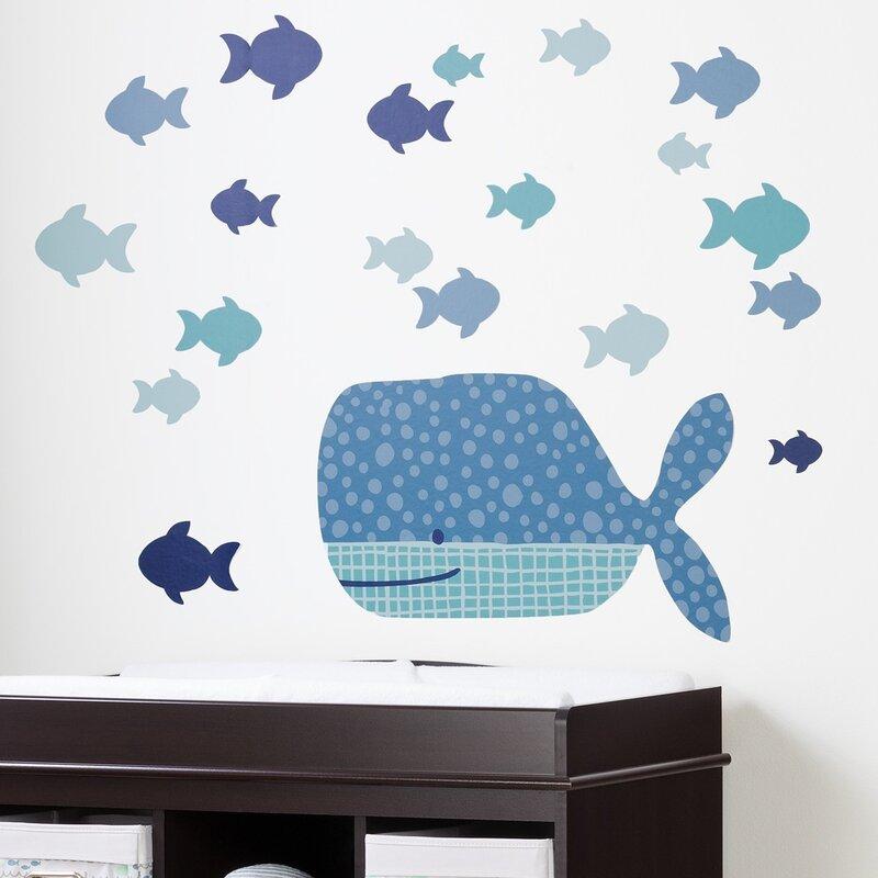 DreamIt Little Whale Wall Decal  sc 1 st  Wayfair & South Shore DreamIt Little Whale Wall Decal | Wayfair
