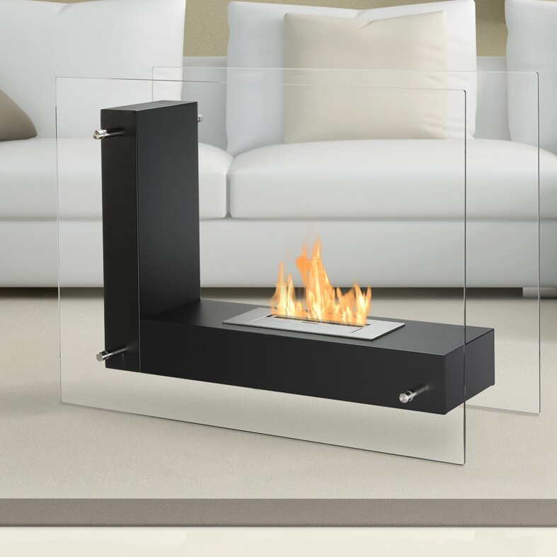 Ignis Vitrum L Freestanding Ventless Ethanol Fireplace & Reviews ...
