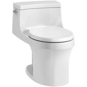 San Souci 1 Piece Round-Front 1.28 GPF Toilet with Aquapiston Flushing Technology
