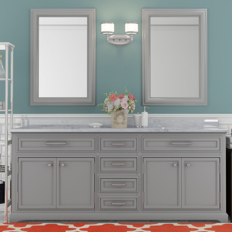 Bergin 72 Double Bathroom Vanity Set