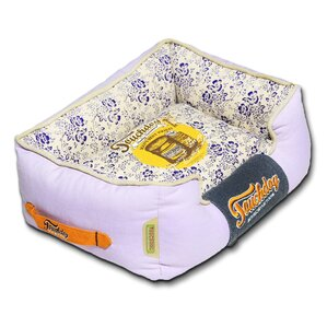 vintage printed ultraplush rectangular designer dog bed