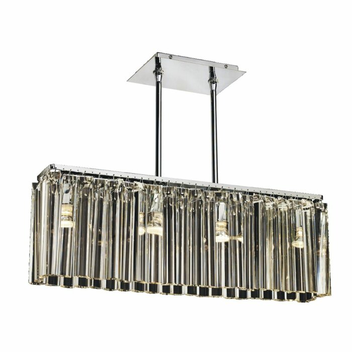 Wind Song 4 Light Kitchen Island Linear Pendant