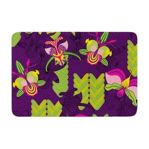 Yenty Jap Orchids Festival Memory Foam Bath Rug