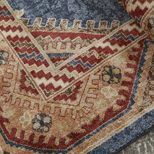 Isanotski Red Blue Area Rug Joss Main