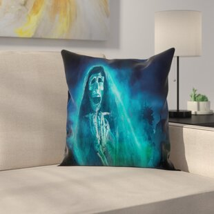 Decor Gothic Ghost Square Pillow Cover