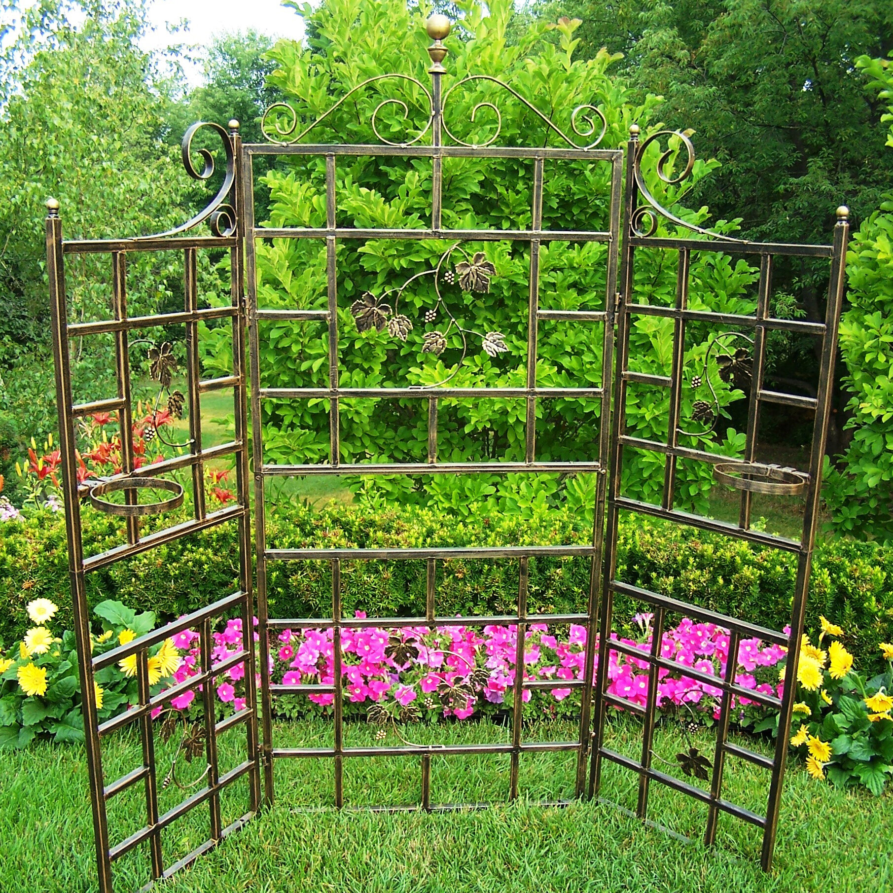 Oakland Living Patio Steel Folding Trellis U0026 Reviews | Wayfair