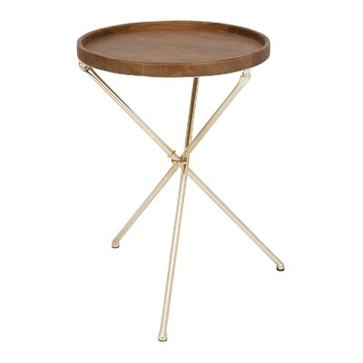 Cole & Grey Metal and Wood Tray Table