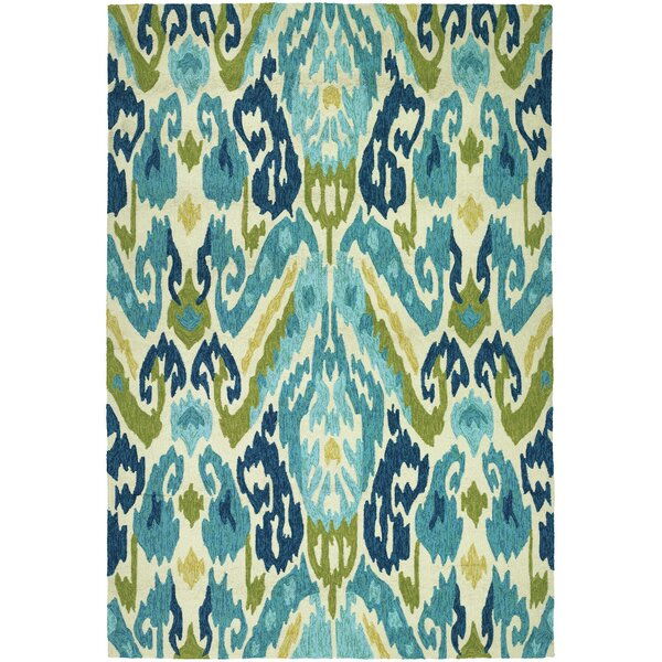 Charlot Hand-Woven Green/Blue Indoor/Outdoor Area Rug | Joss & Main