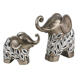 Kiara Decorative Elephant 2 Piece Figurine Set