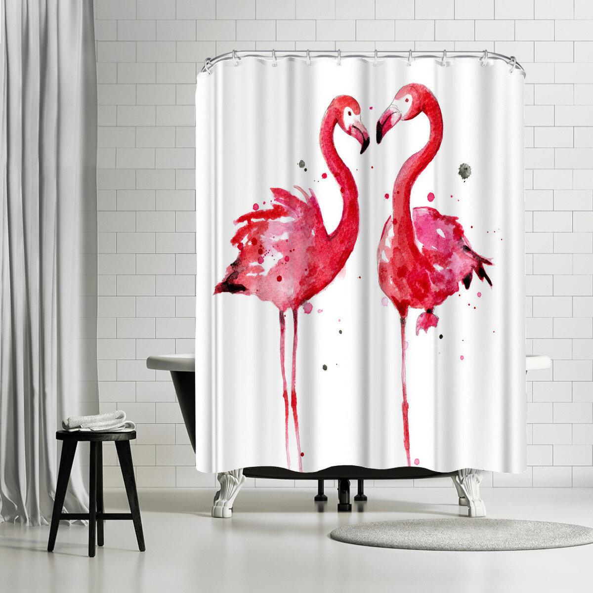 East Urban Home Sam Nagel Flamingos Shower Curtain